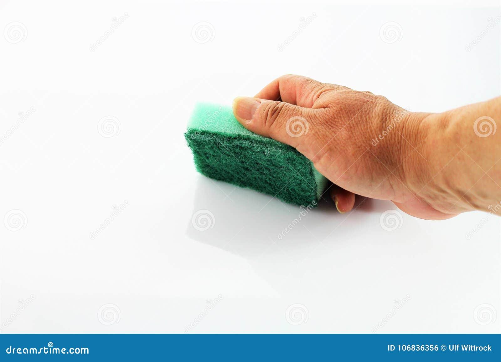 Een beeld van het schoonmaken van een oppervlakte - versies van de huishouden de Verschillende kleur