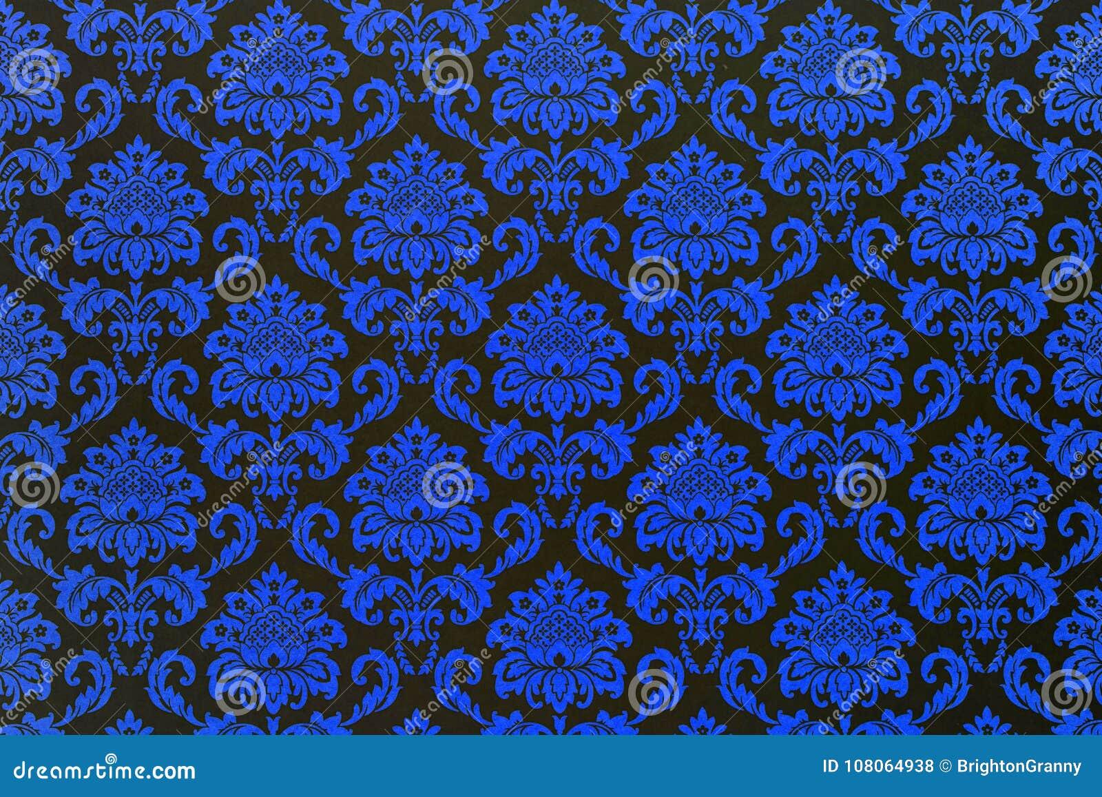 Een behang van een herhalings botanisch patroon