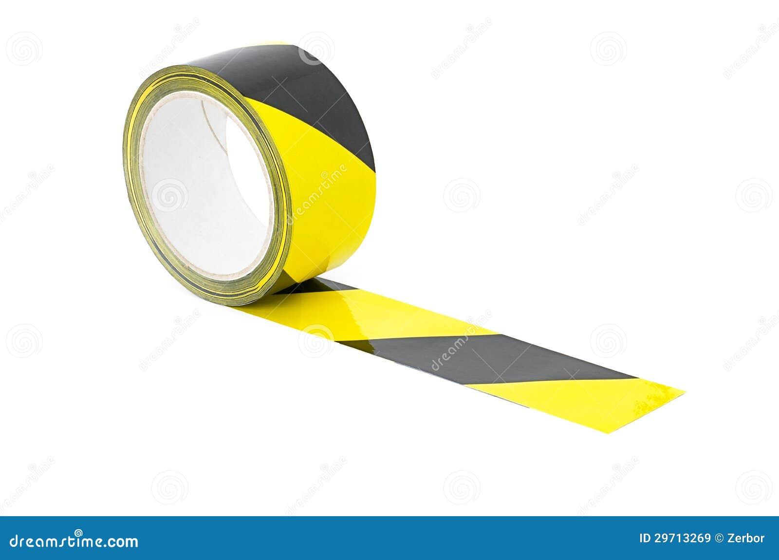 Een broodje van gele en zwarte voorzichtigheidsband