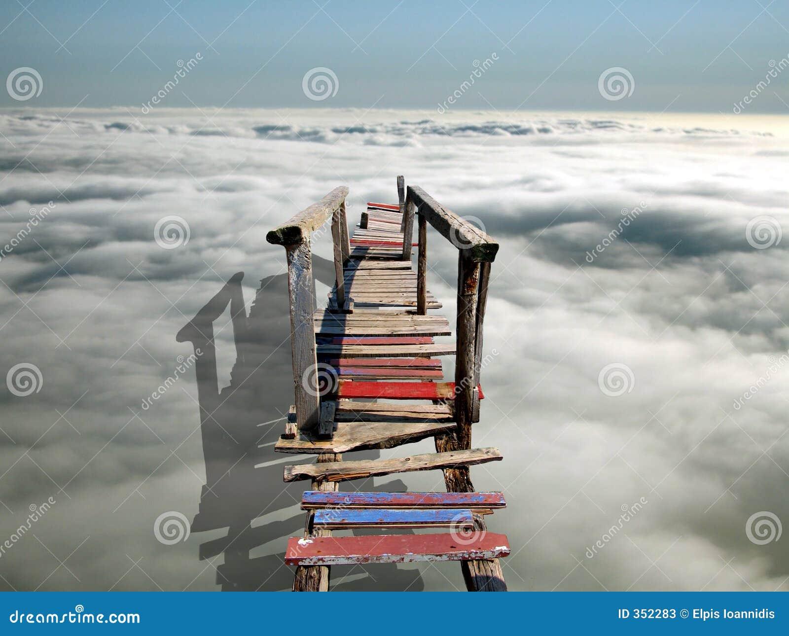 Een brug aan hemel
