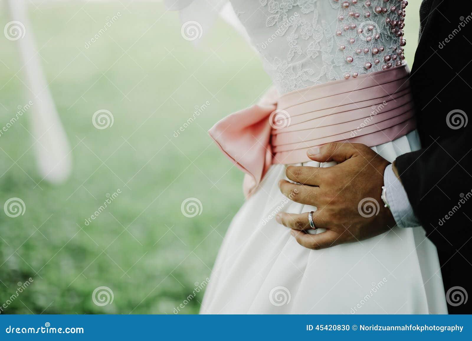Een bruidegom en een bruid