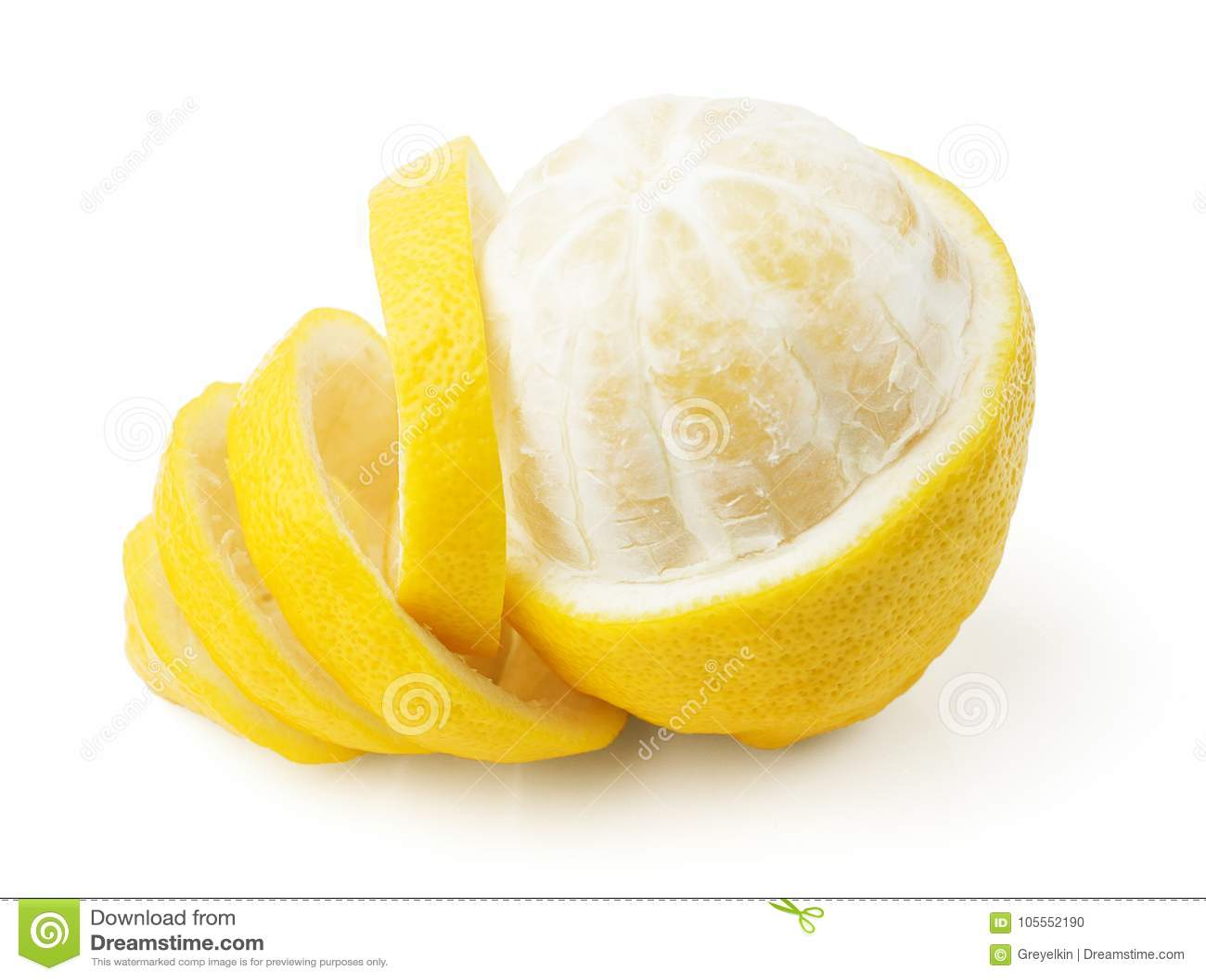 Een citroen en een schil