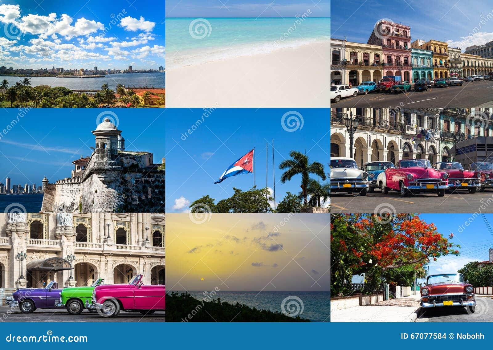 Een Collage van Havana Cuba