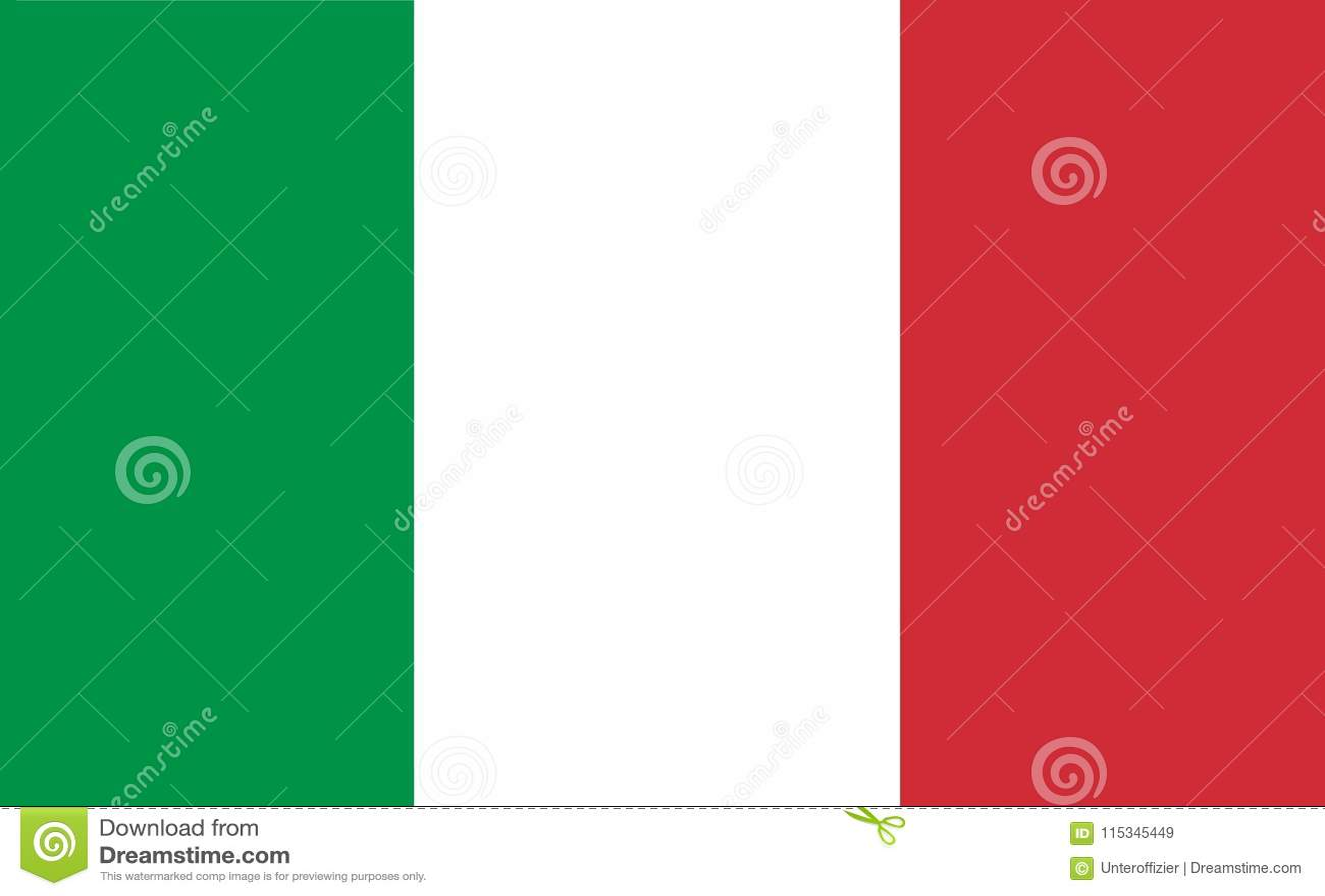 Een computer produceerde grafiekillustratie van de vlag van Italië