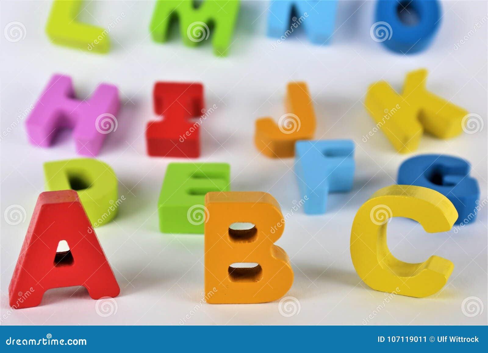 Een conceptenbeeld van abcbrieven, preschool, stuk speelgoed, Alfabet
