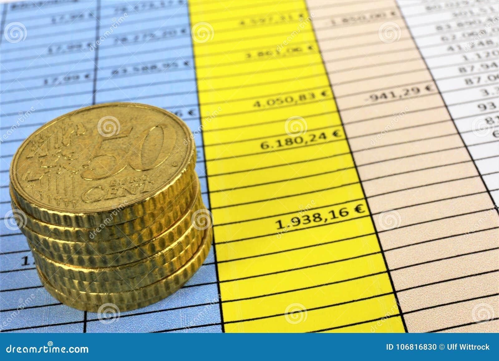 Een conceptenbeeld van Geld, calculator, pen