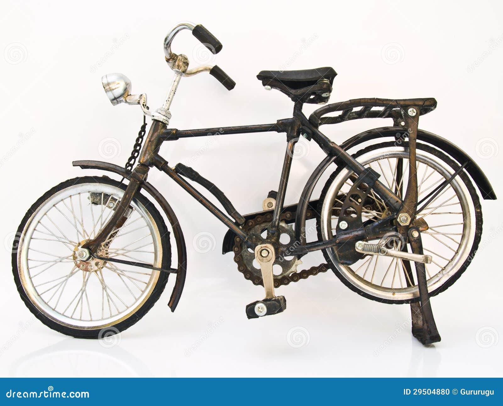 Een de fietsmodel van het Ijzer op witte achtergrond