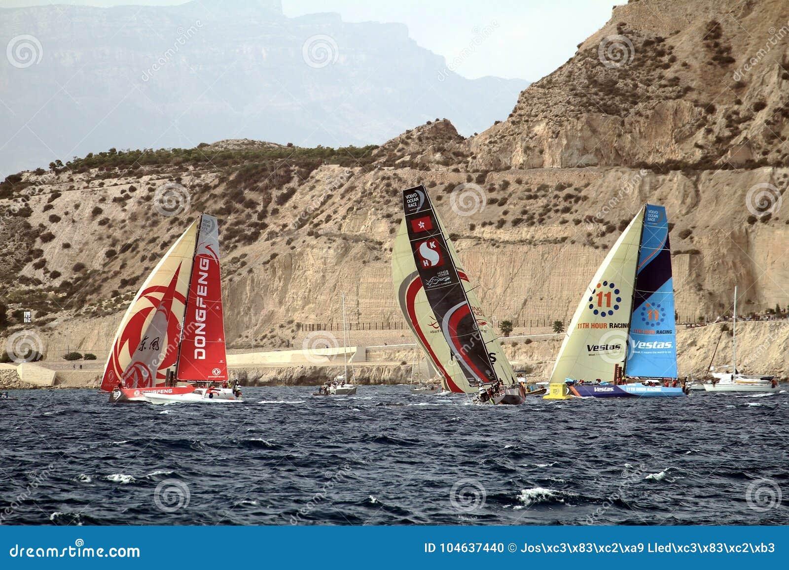 Download Een Deel Die Van VOR-vloot Na Beginbeen 1 Alicante-Lissabon Varen Redactionele Afbeelding - Afbeelding bestaande uit exciting, marine: 104637440