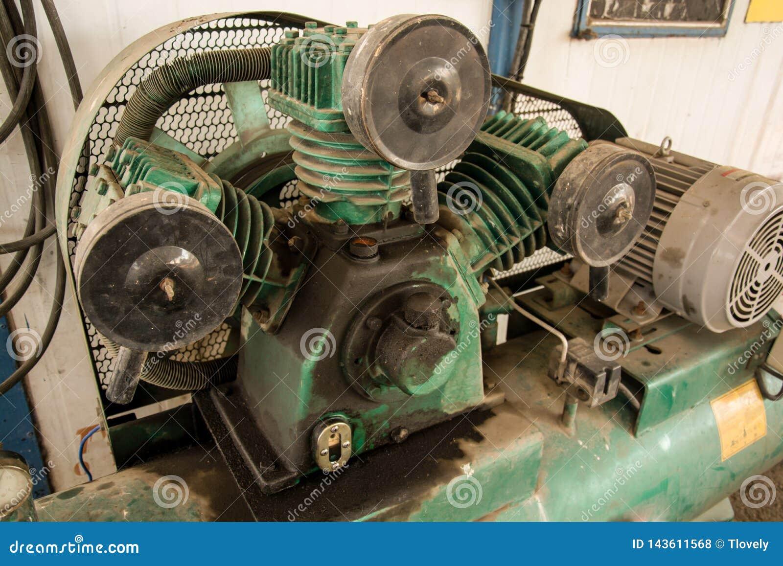 Een deel van compressor