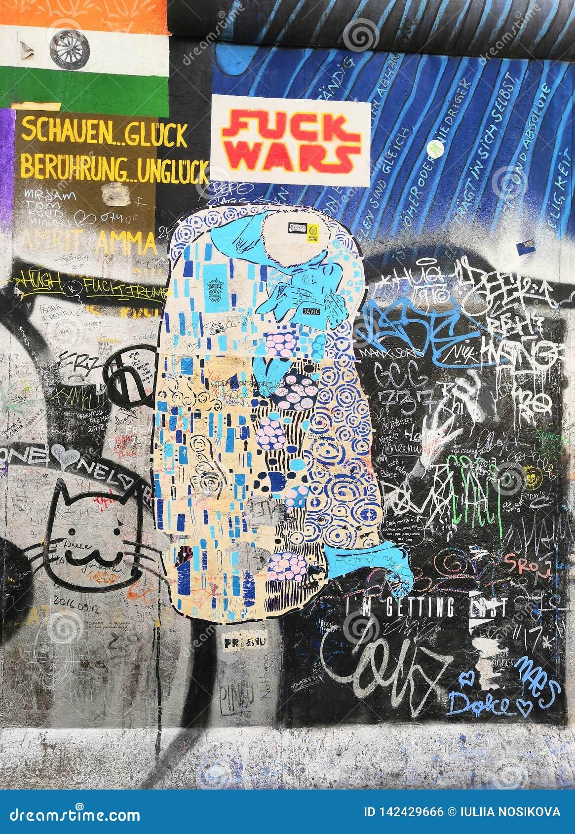 Een deel van de muur van Berlijn