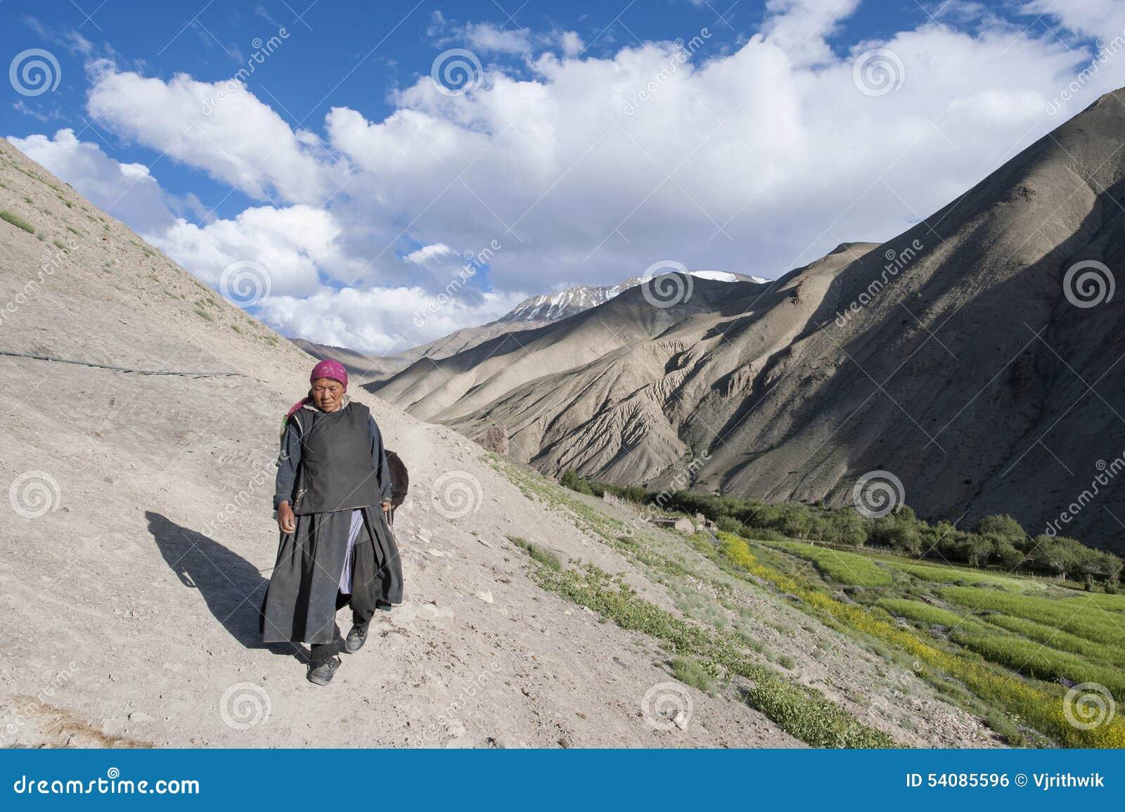 Een dorpsvrouw