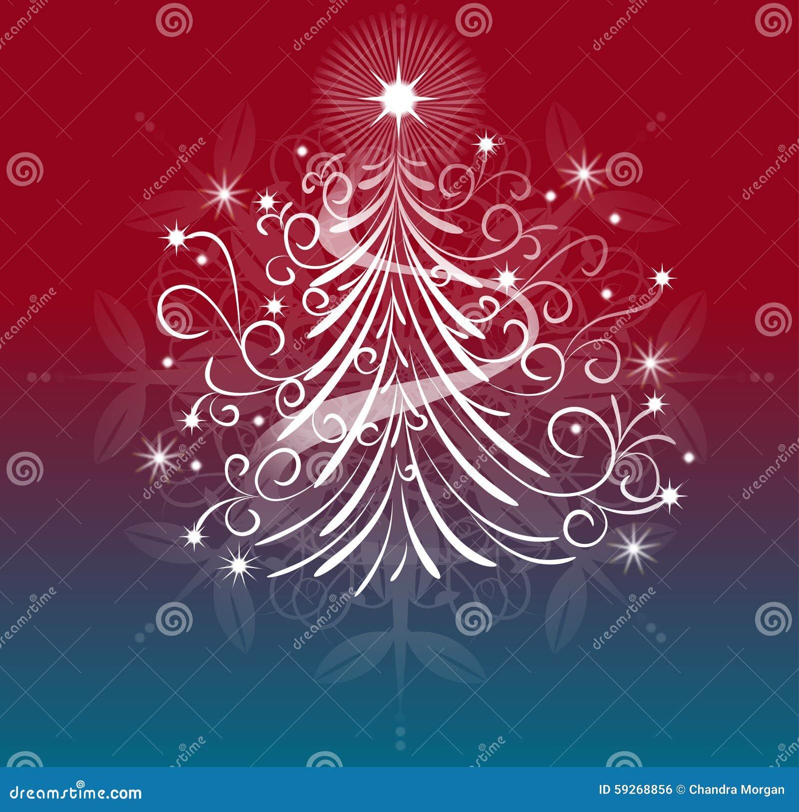 Een elegant ontwerp van de Kerstmisboom