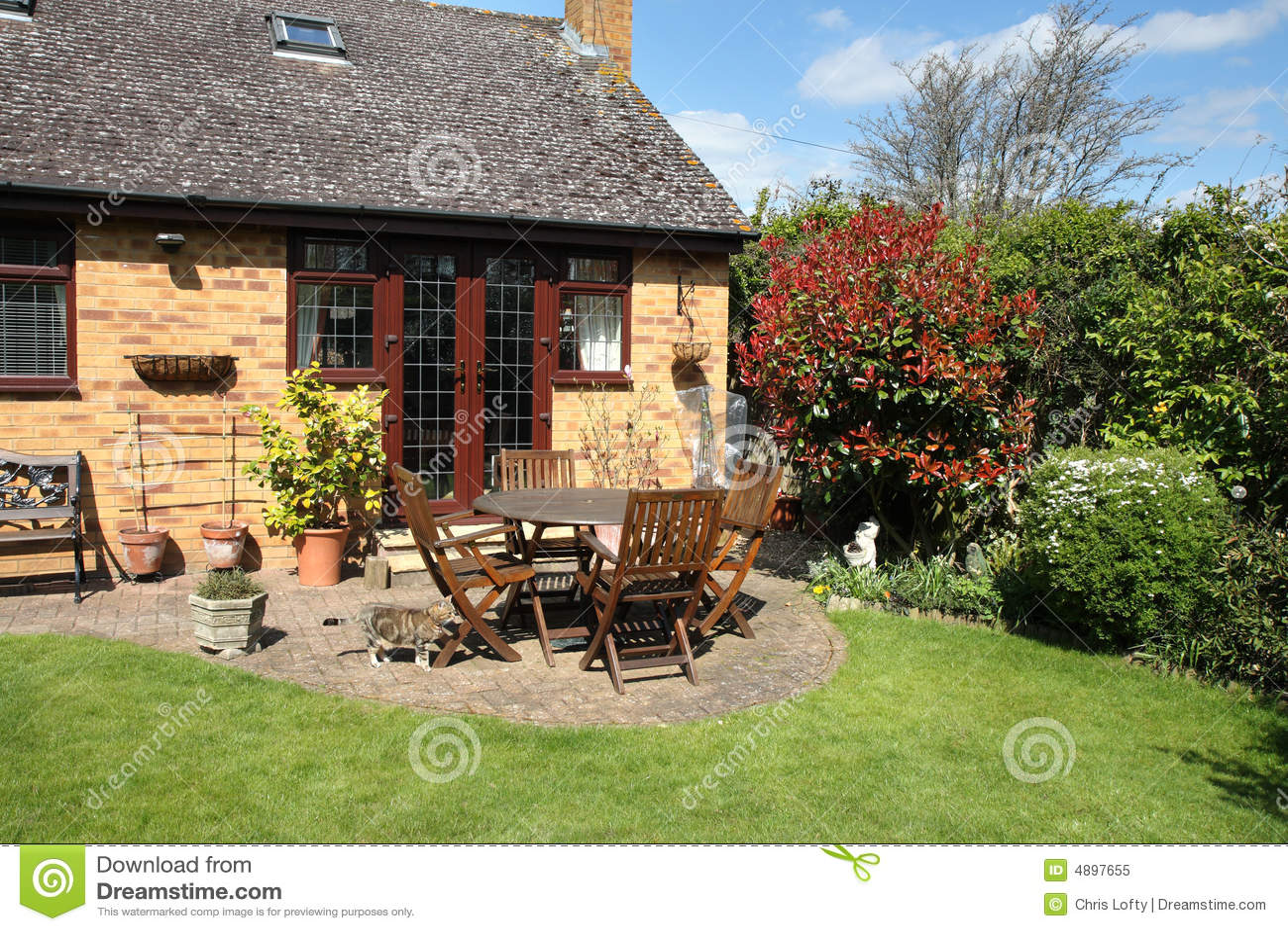Een Engelse scène van de Tuin