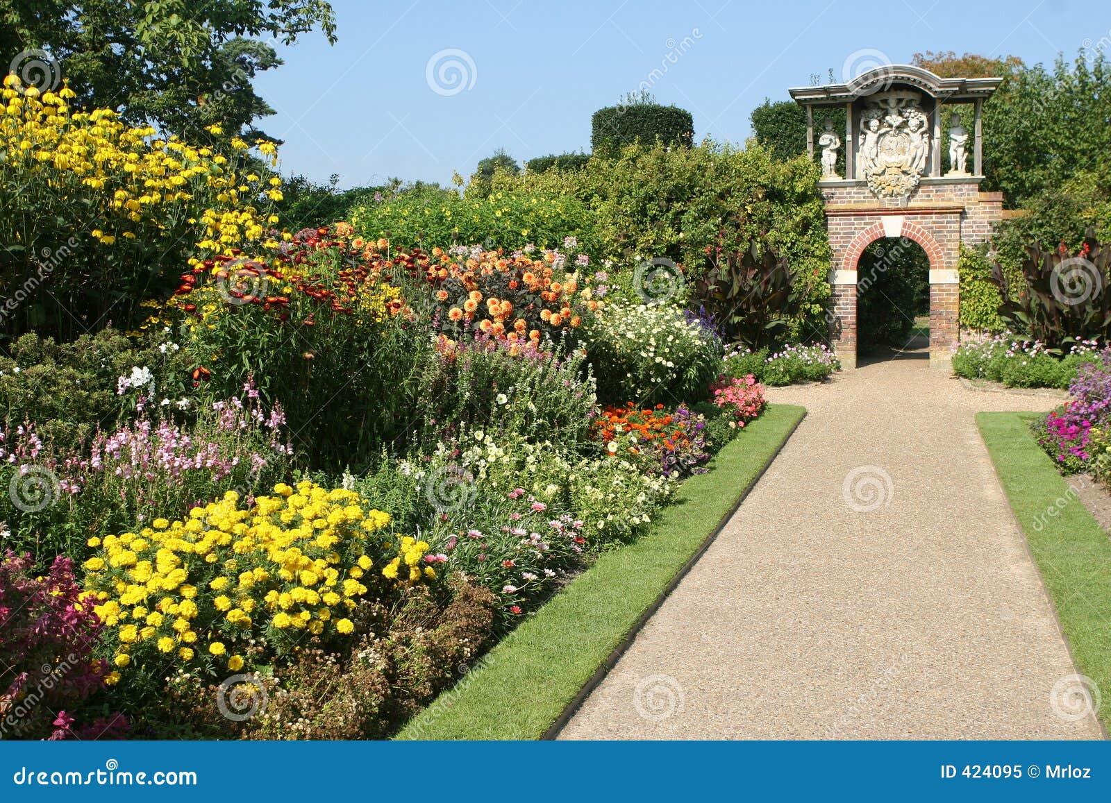 Een Engelse Tuin van het Land