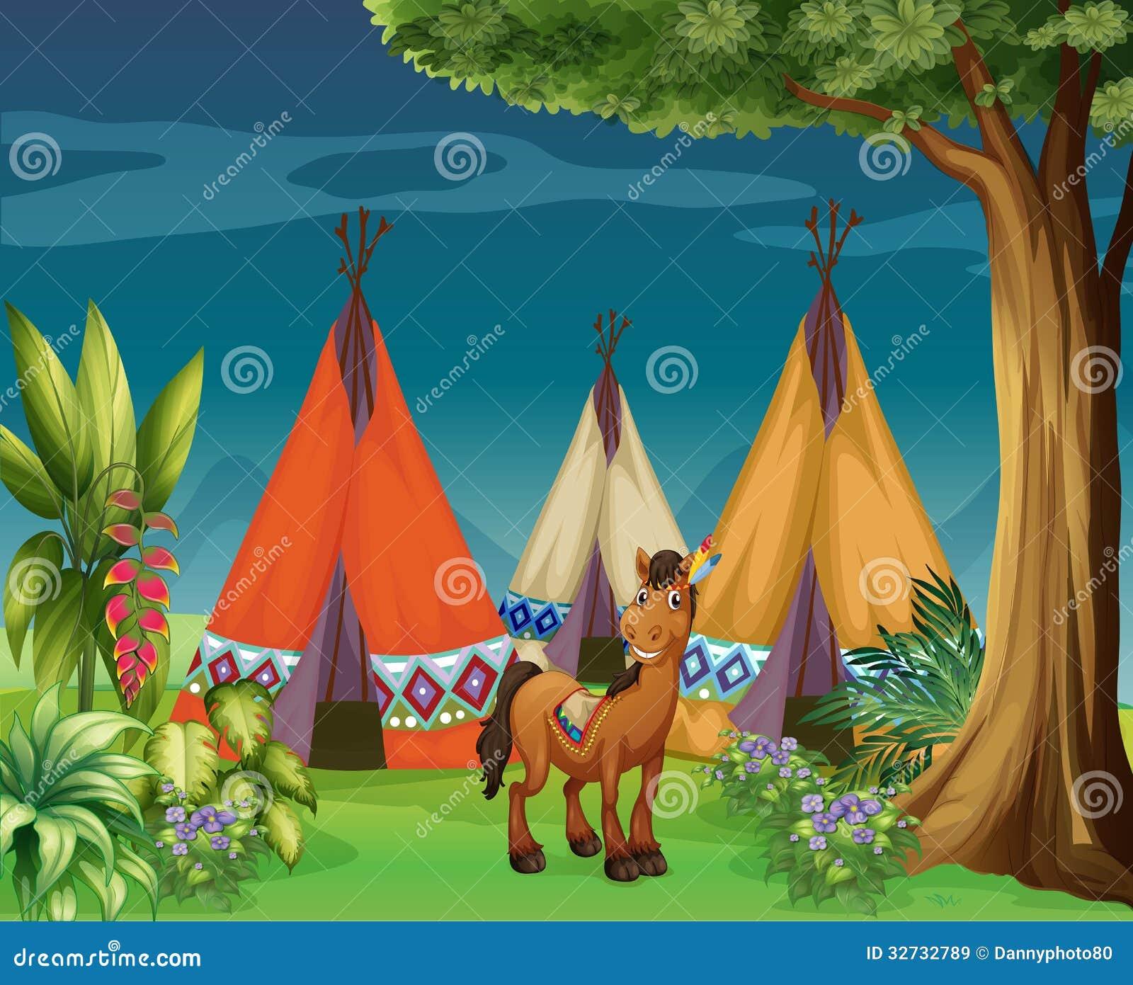 Een ezel in het hout