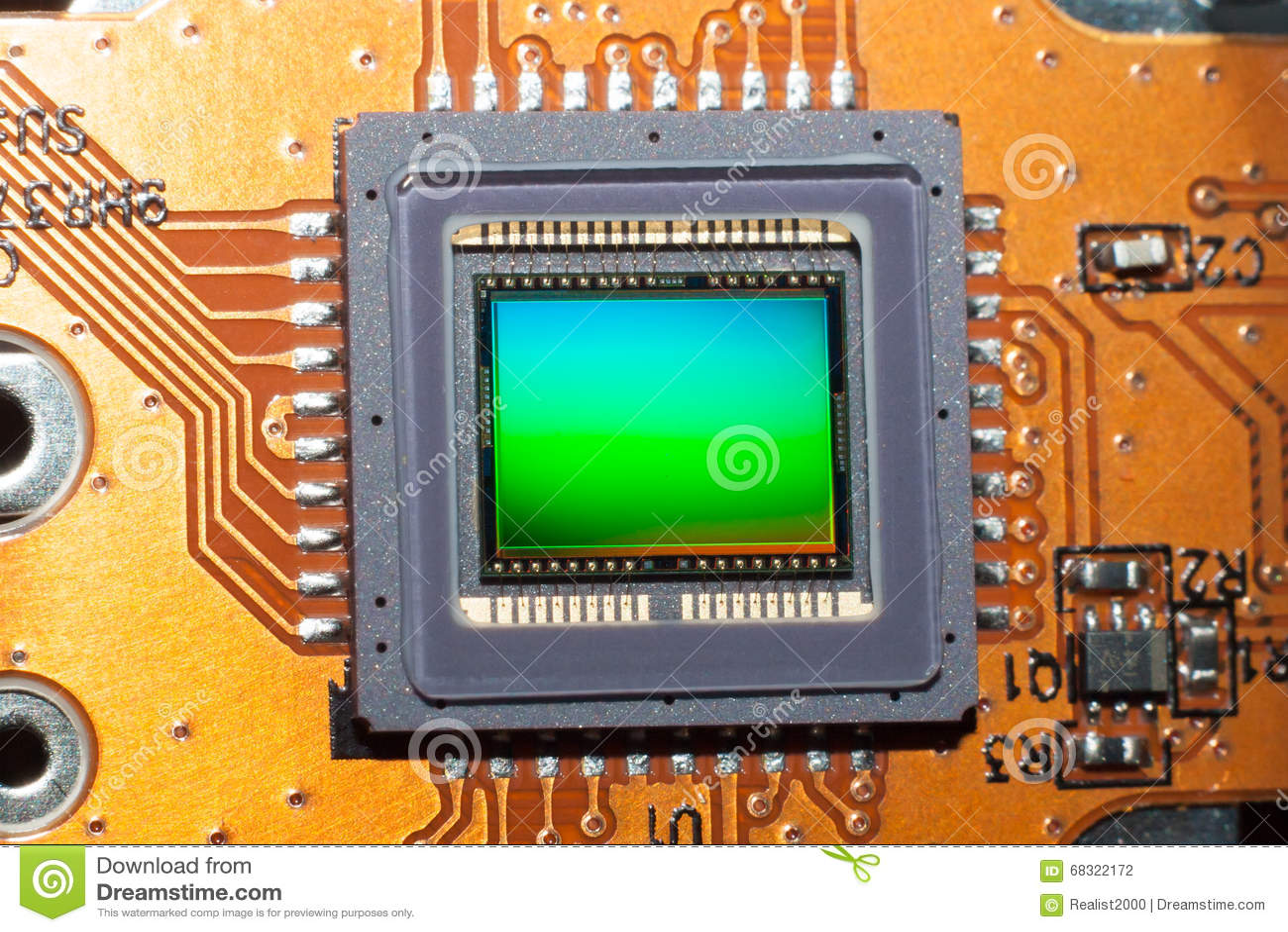 Een gevoelige matrijs van de digitale fotocamera