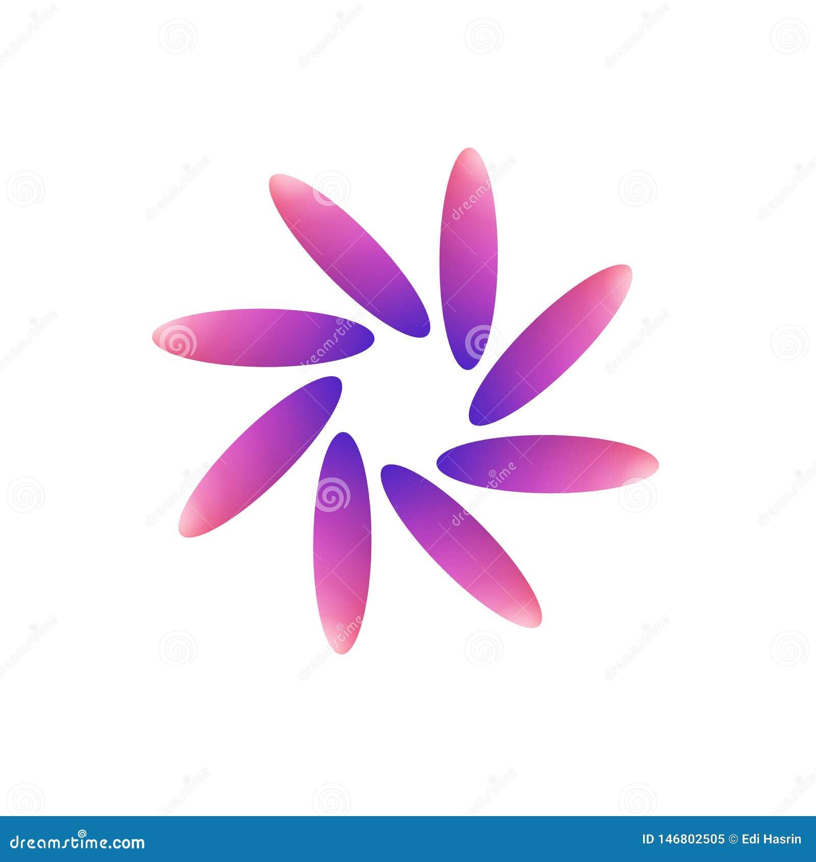 Een gewijzigd roze, purper embleem van de tulpenbloem