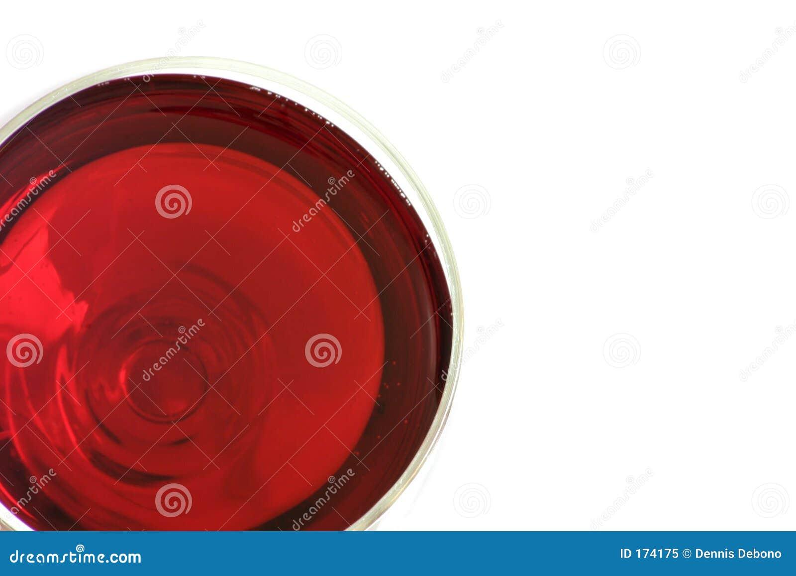 Een glas rode wijn