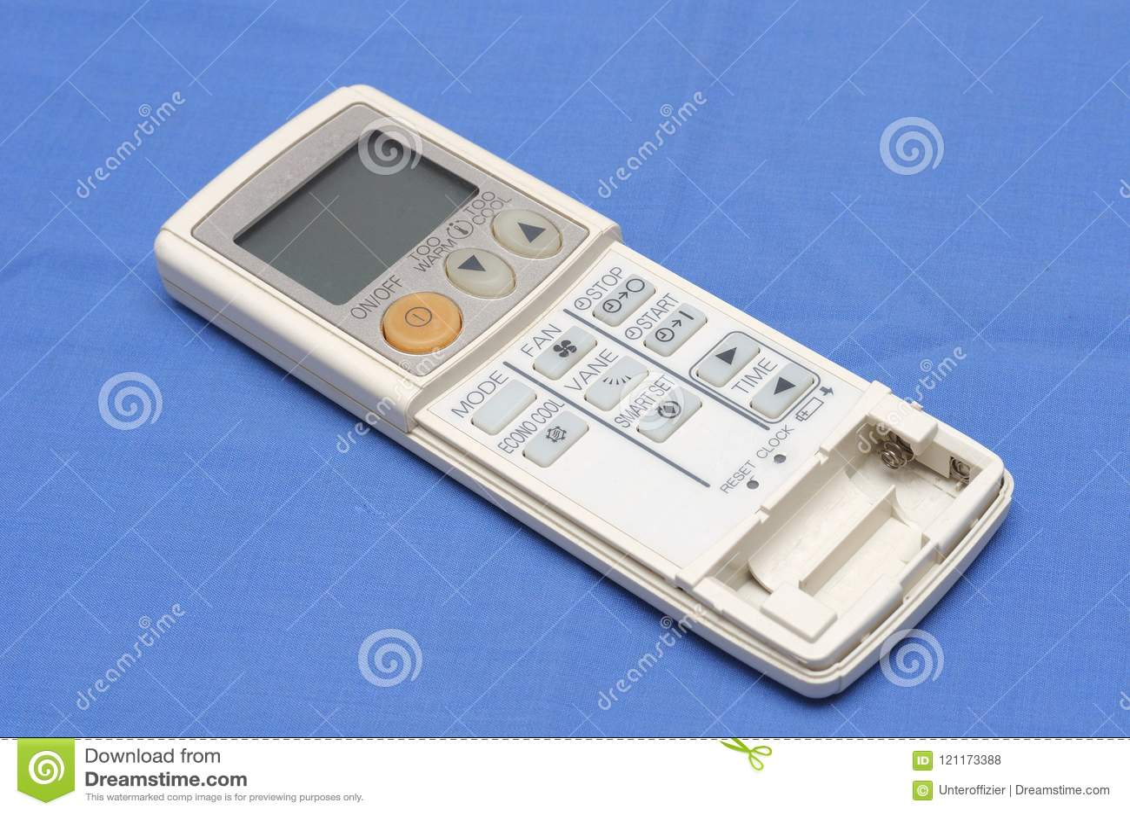 Een hand - gehouden verre controlemechanismeconsole voor airconditioningseenheden