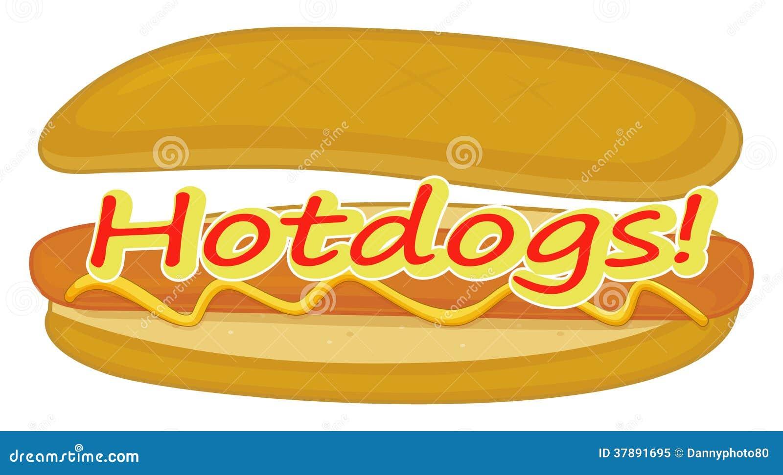 Een hotdogetiket