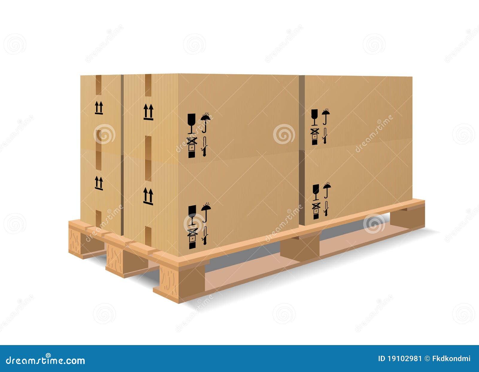 Een houten pallet met dozen stock afbeelding afbeelding 19102981 - Foto houten pallet ...