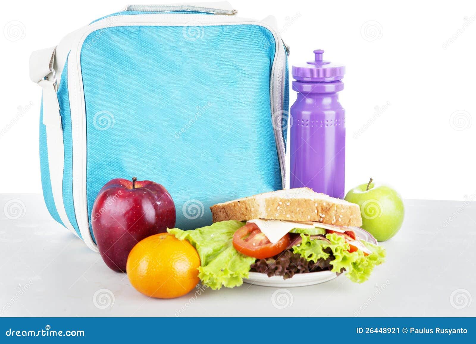 Een ingepakte schoolmaaltijd