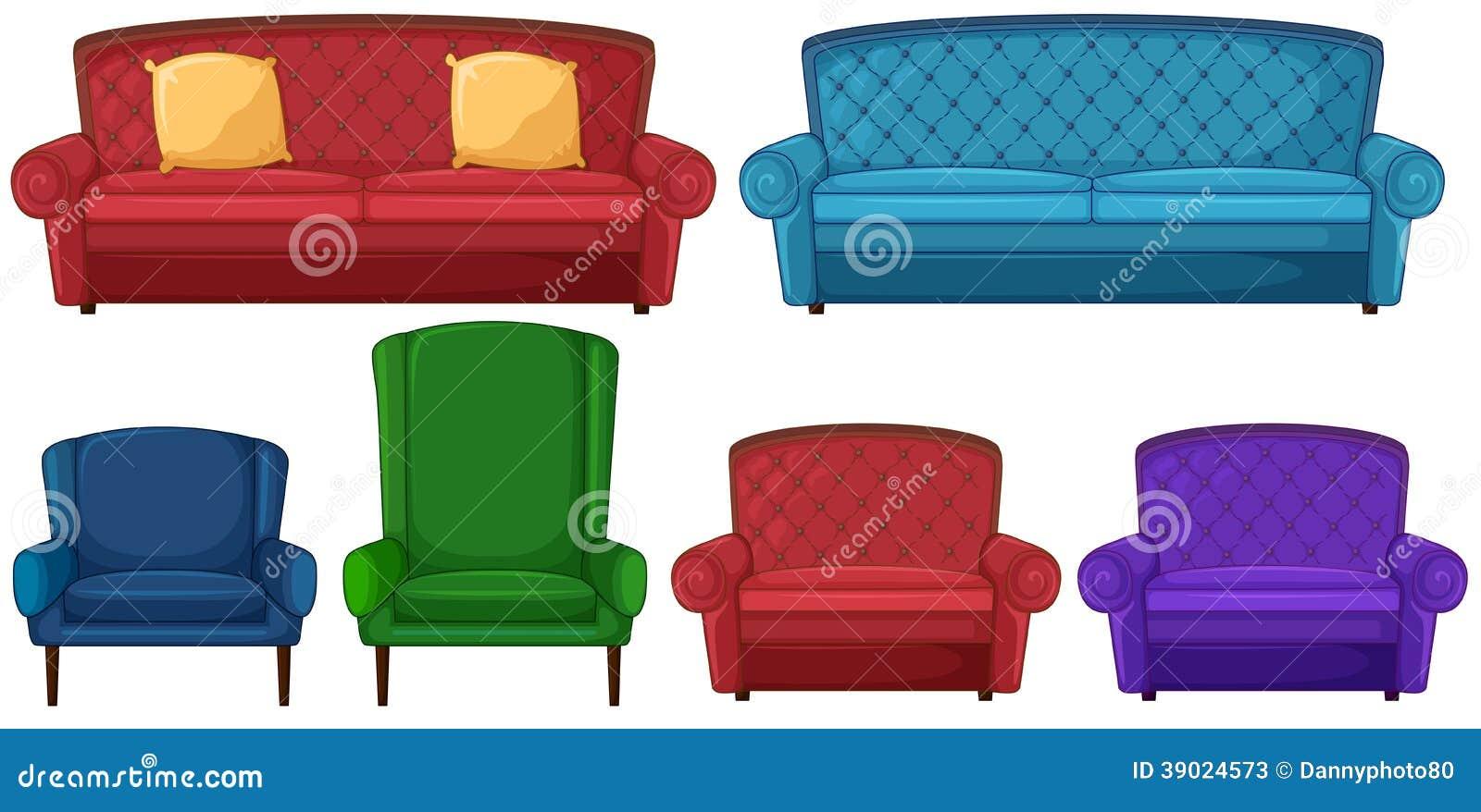 Een inzameling van verschillende stoelen