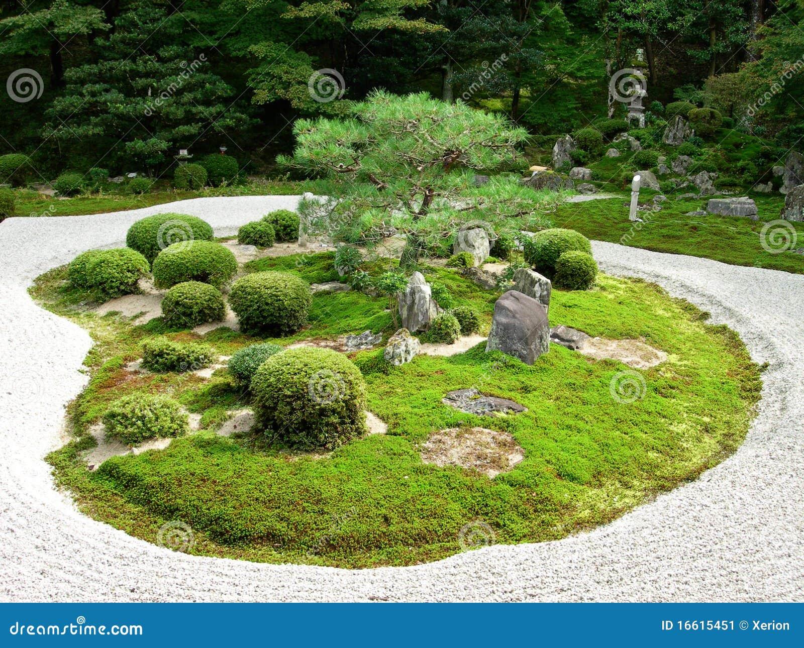 Een japanse tuin van de steen stock afbeelding afbeelding 16615451 - Tuin van de tuin ...