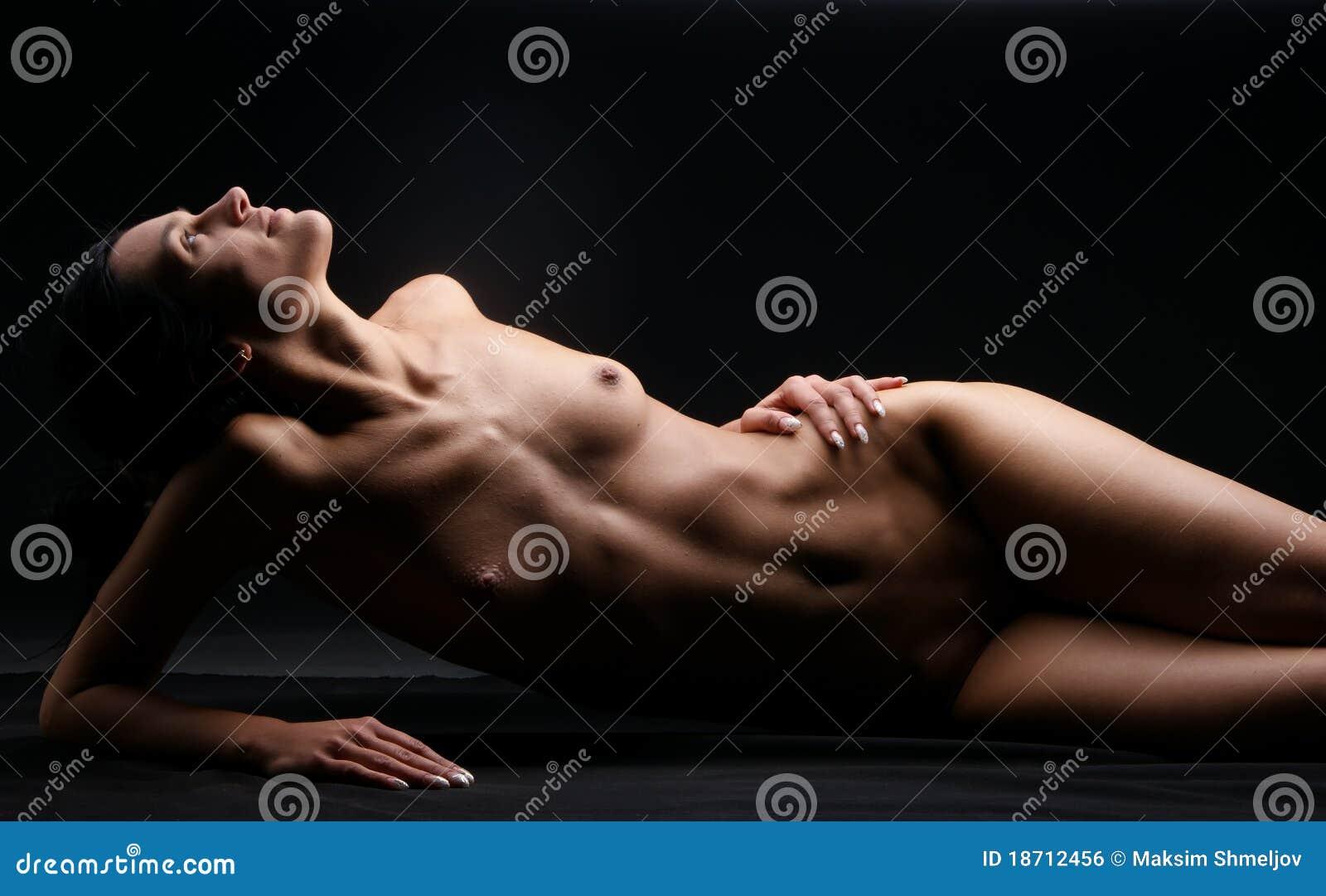 Sexy zwarte naakt vrouw