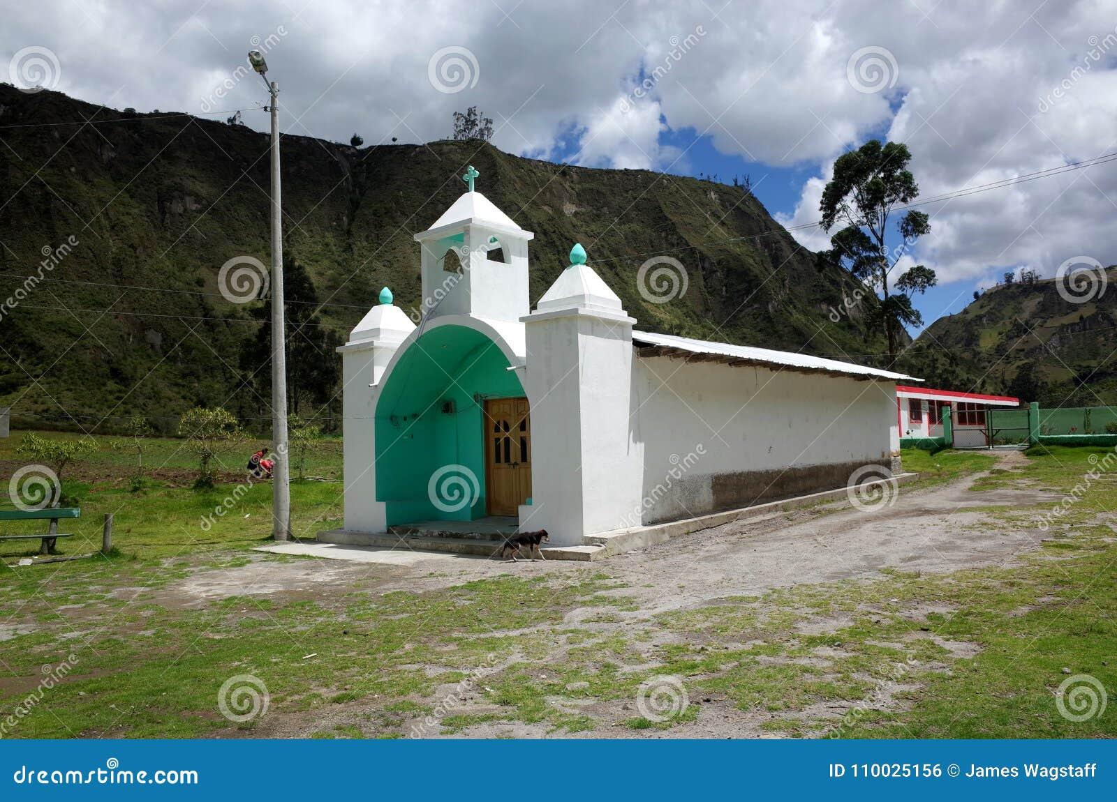 Een kerk in de stad van Guantualo