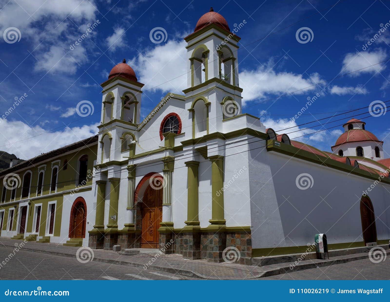 Een kerk in de stad van Sigchos