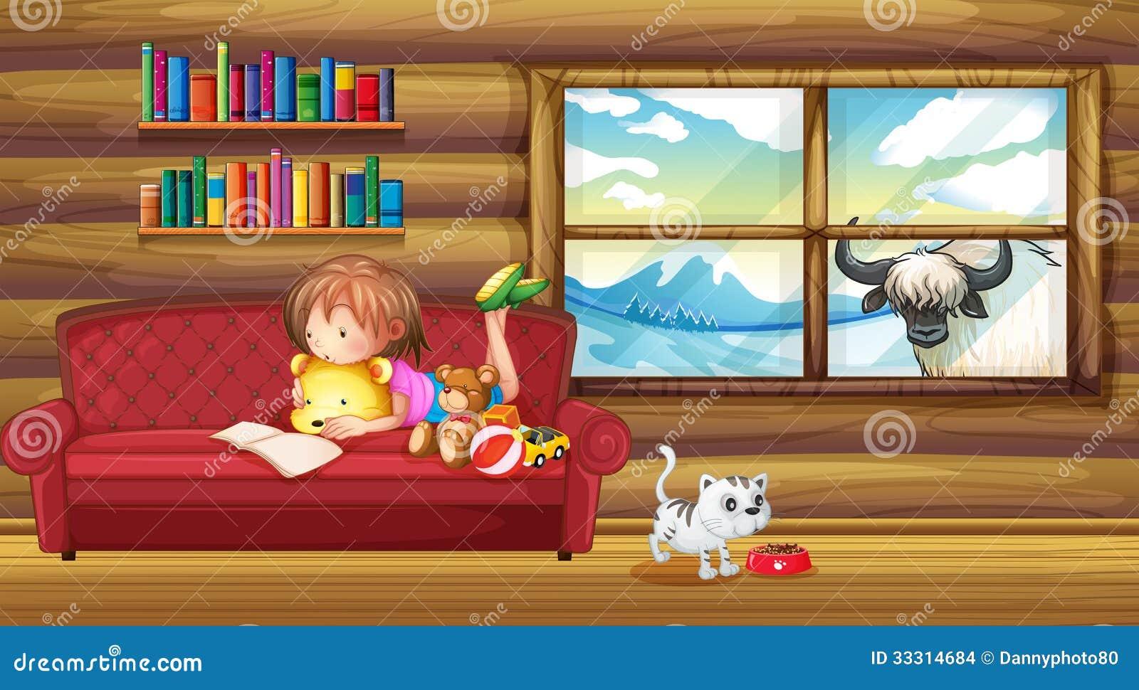 Een klein meisje die een boek lezen stock afbeeldingen afbeelding 33314684 - Klein meisje idee ...