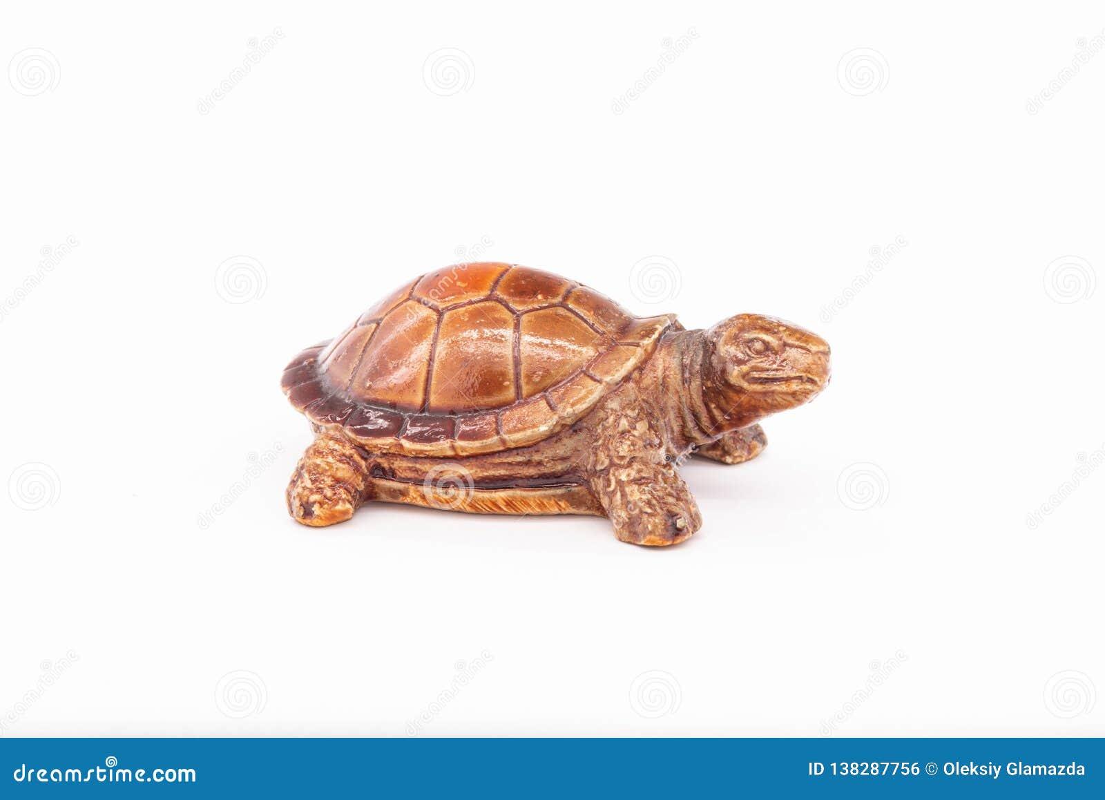 Een klein stuk speelgoed is een schildpad
