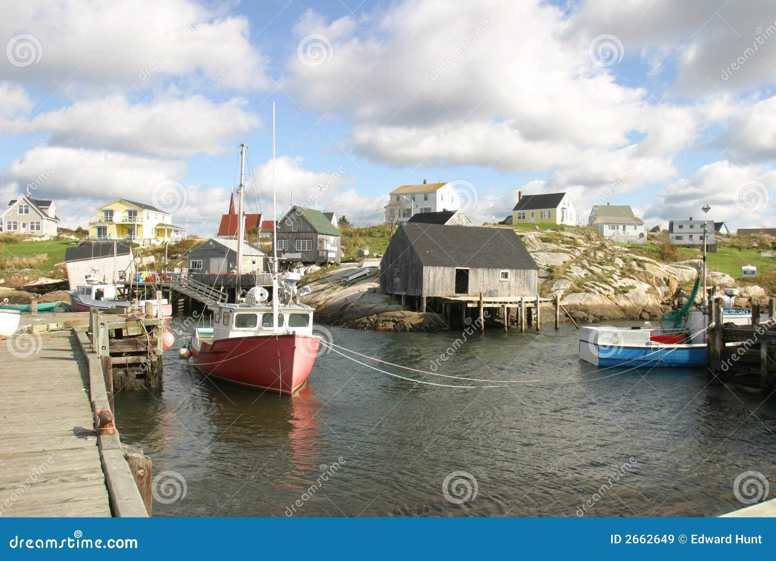 Een kleine visserijstad