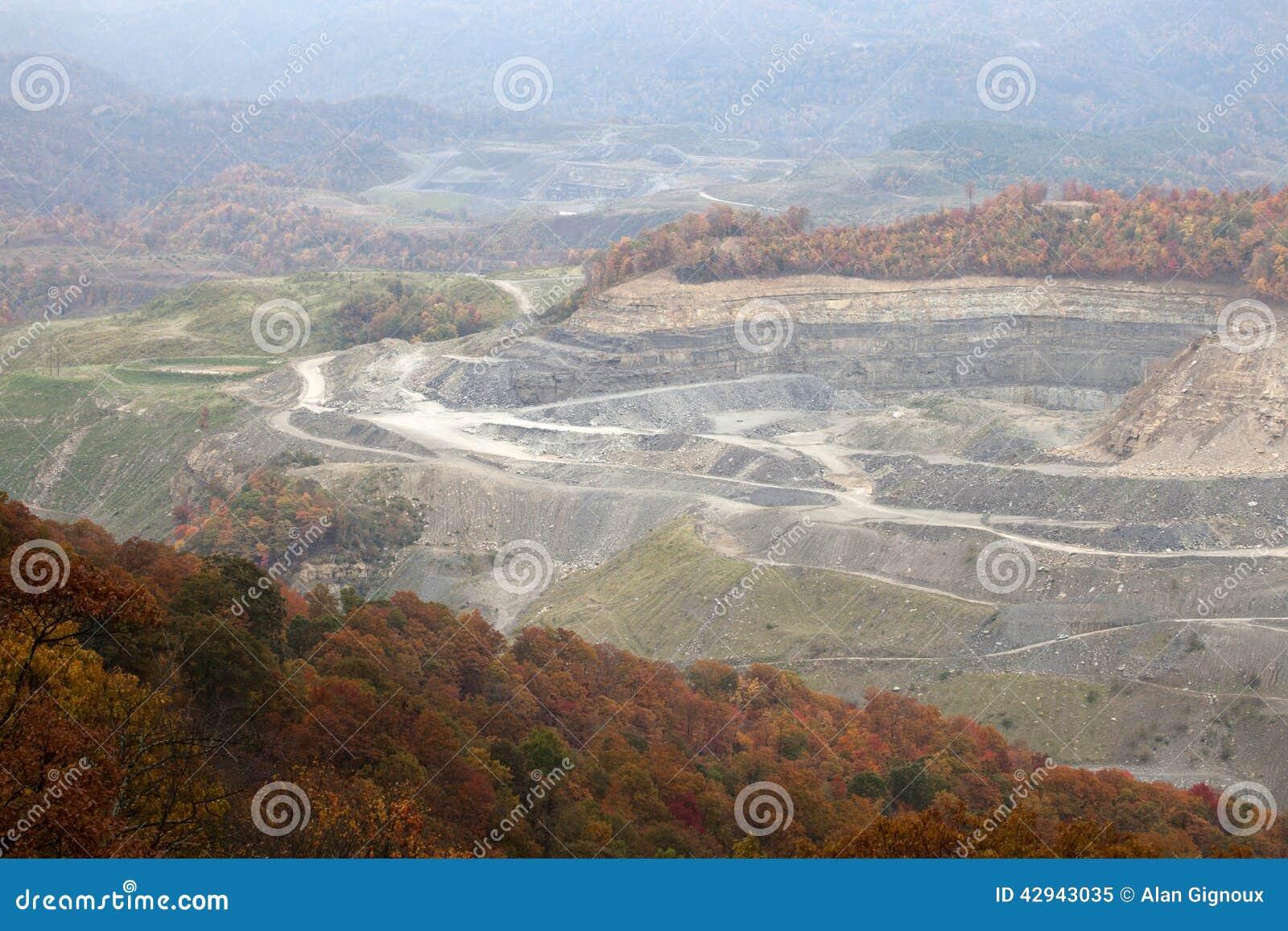 Een kolenmijn, Appalachia, Amerika