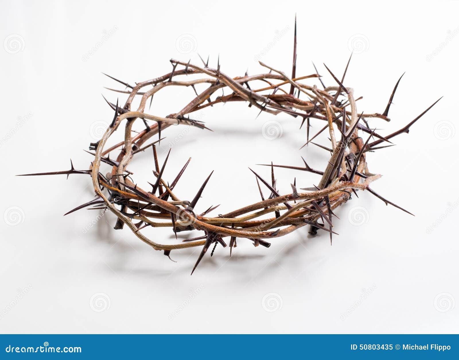 Een kroon van doornen op een witte achtergrond - Pasen Godsdienst