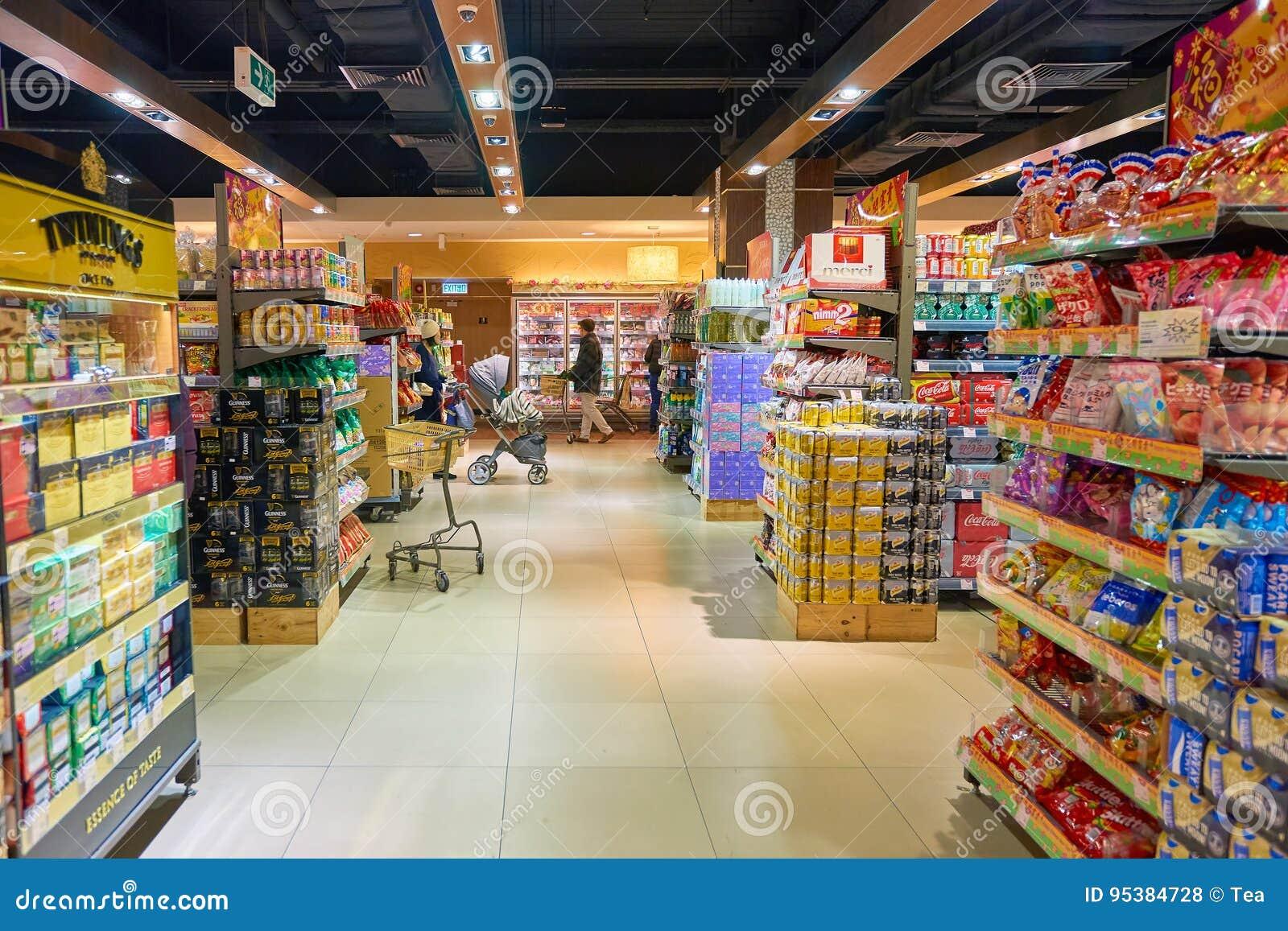 Een kruidenierswinkelopslag