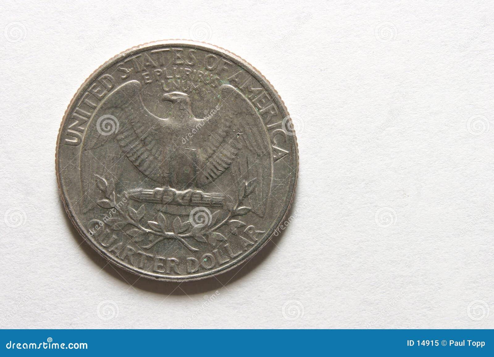 Download Een kwart stock afbeelding. Afbeelding bestaande uit adelaar - 14915