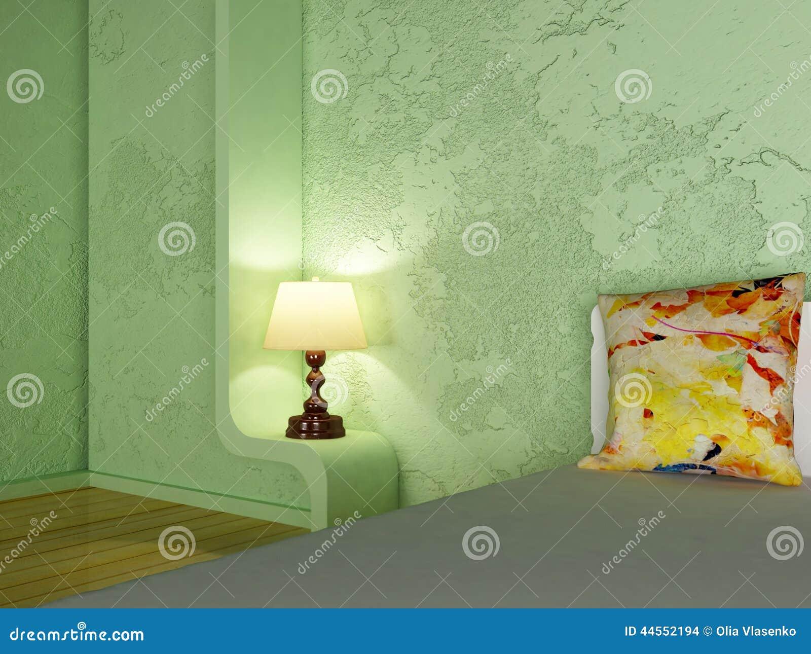 Een lamp in de slaapkamer stock illustratie   afbeelding: 44552194