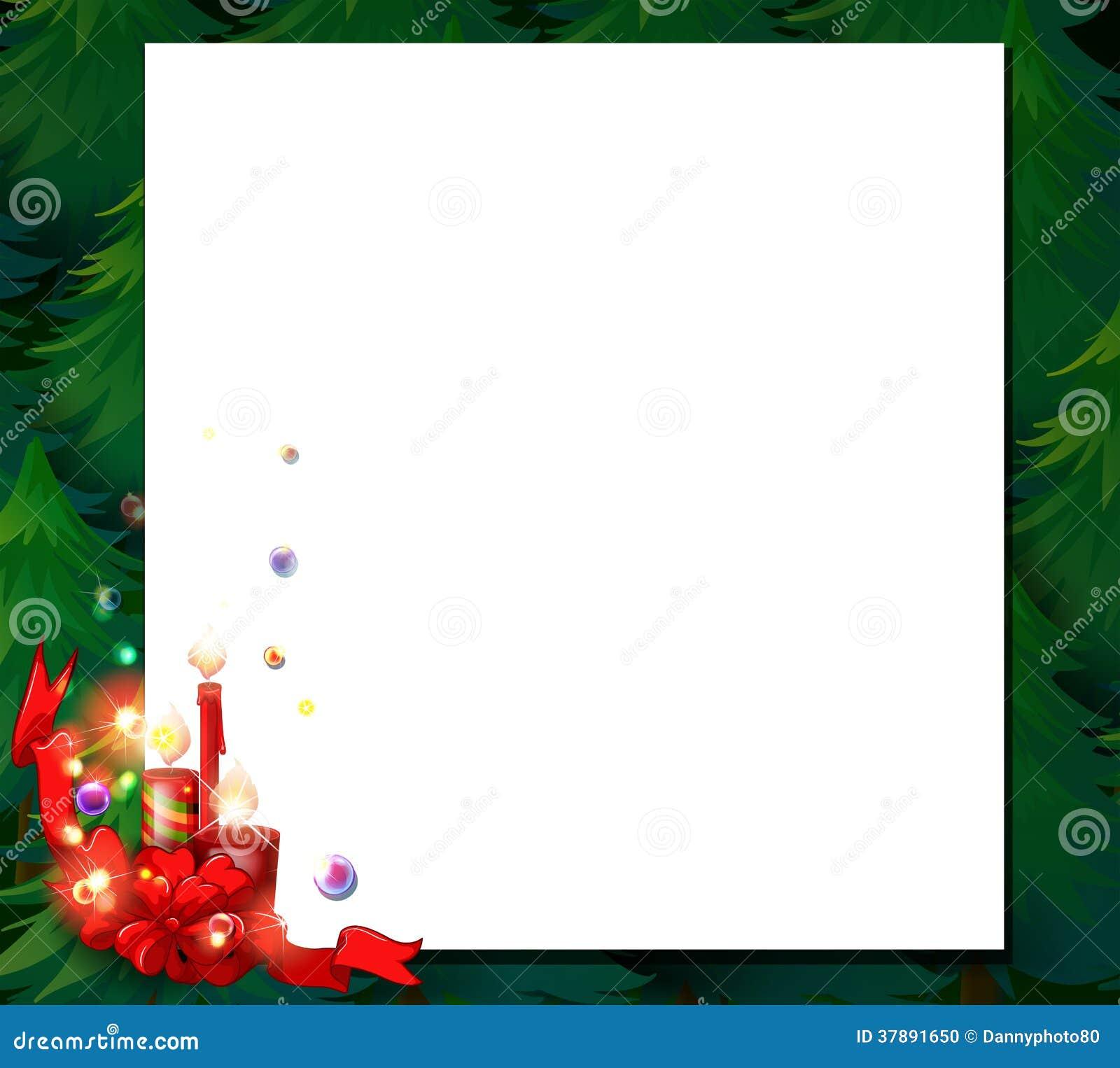 Een leeg malplaatje van de Kerstmiskaart