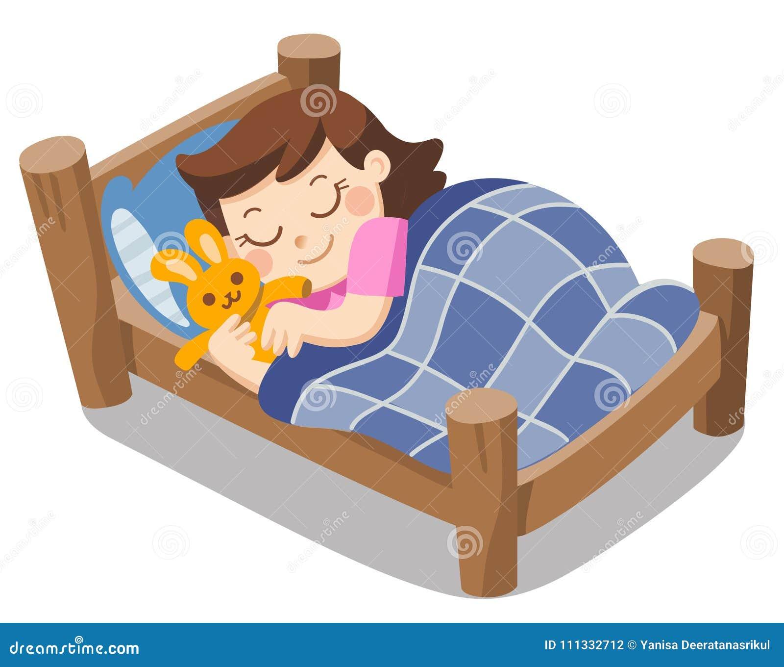 Een leuke meisjesslaap op vanavond dromen