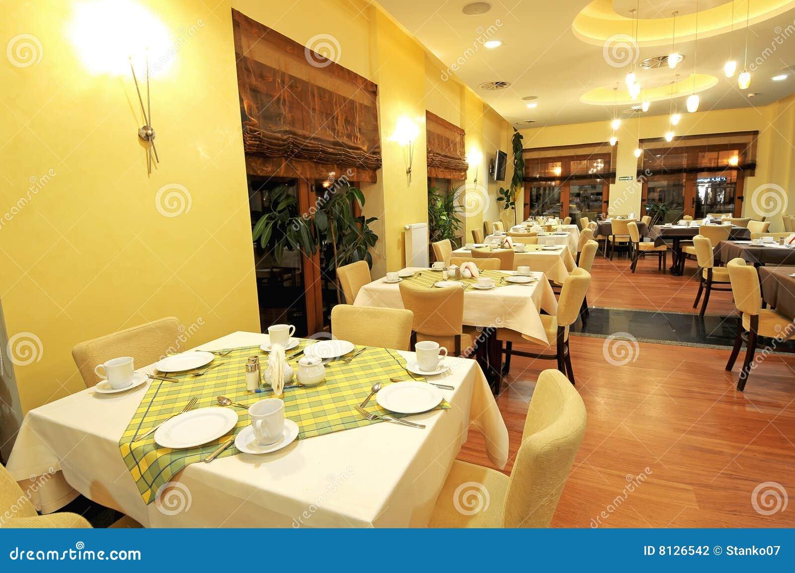 Een mening van grote eetkamer stock foto afbeelding bestaande