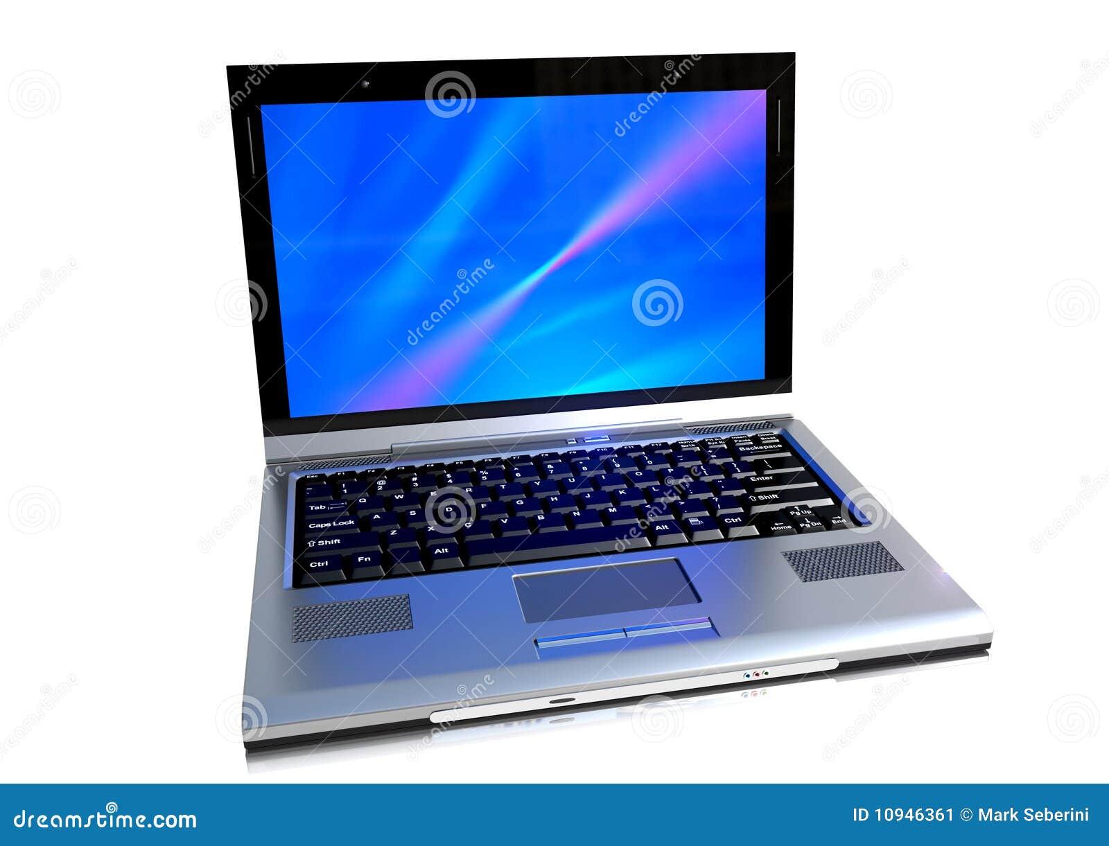 Een moderne laptop computer