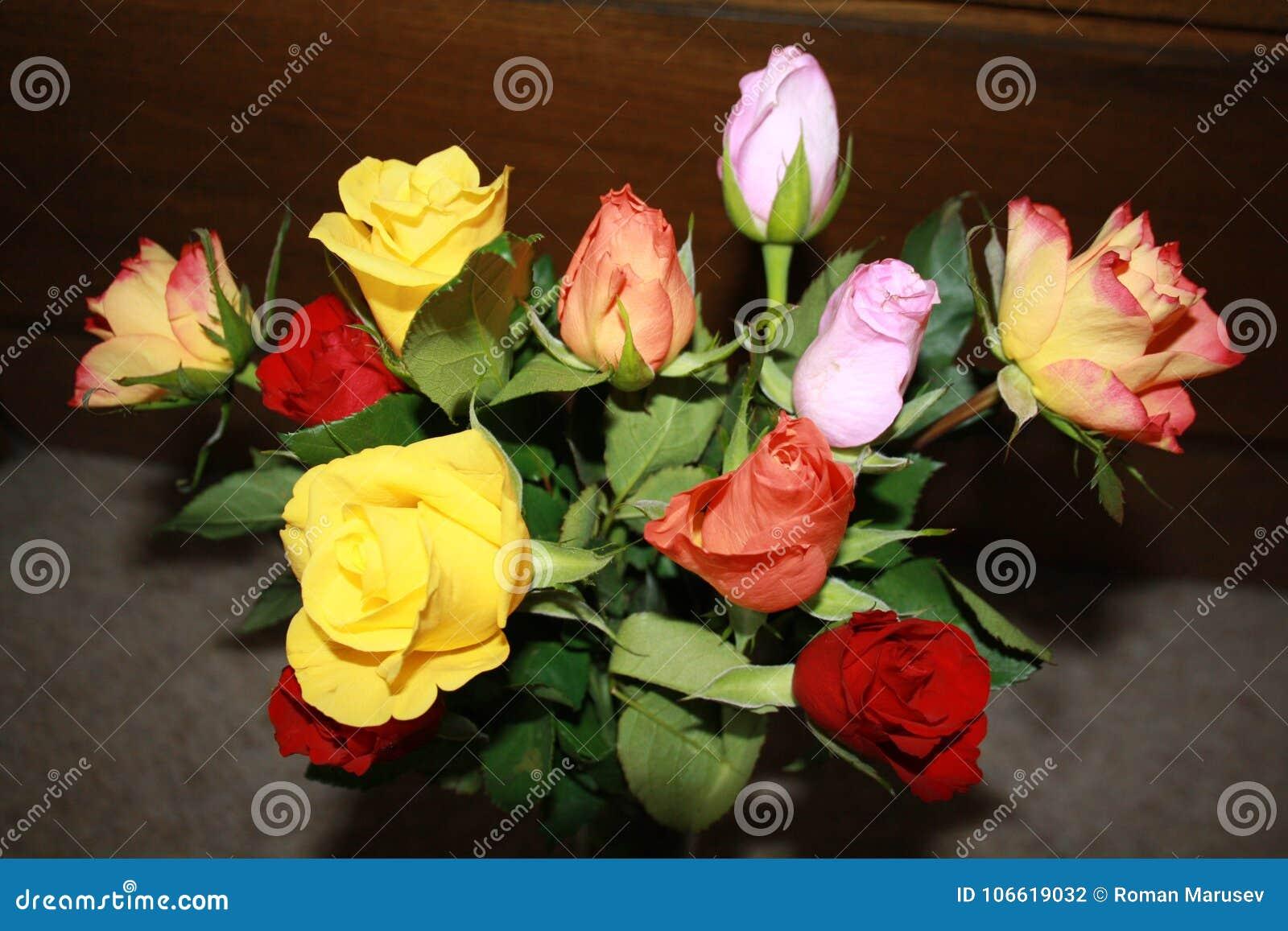 Een mooi boeket van rozen