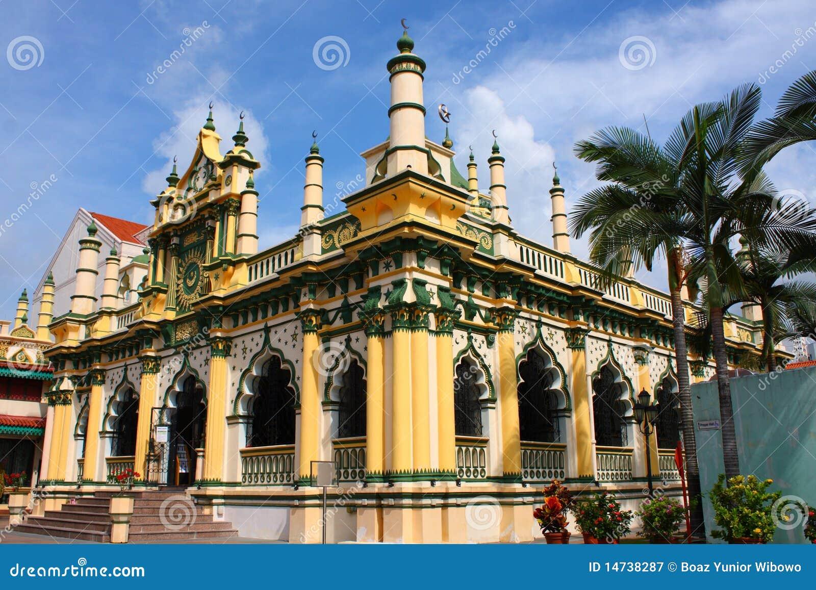 Een mooie Moskee in Singapore