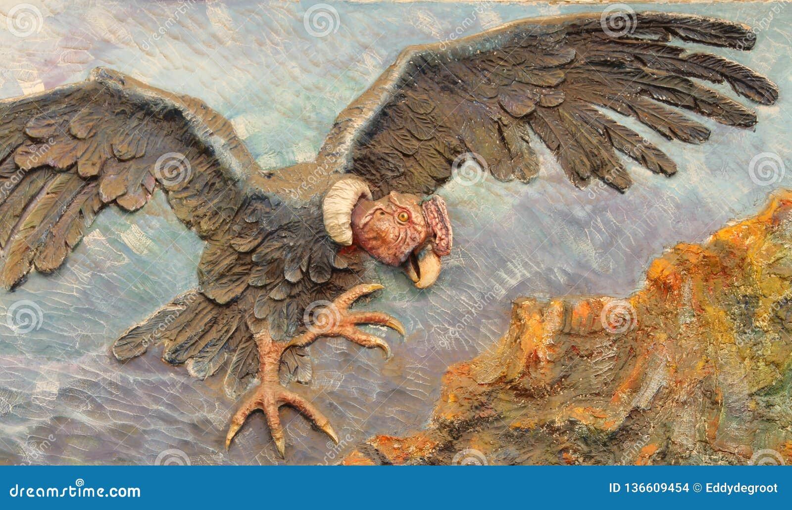 Een muurschildering van een Condor