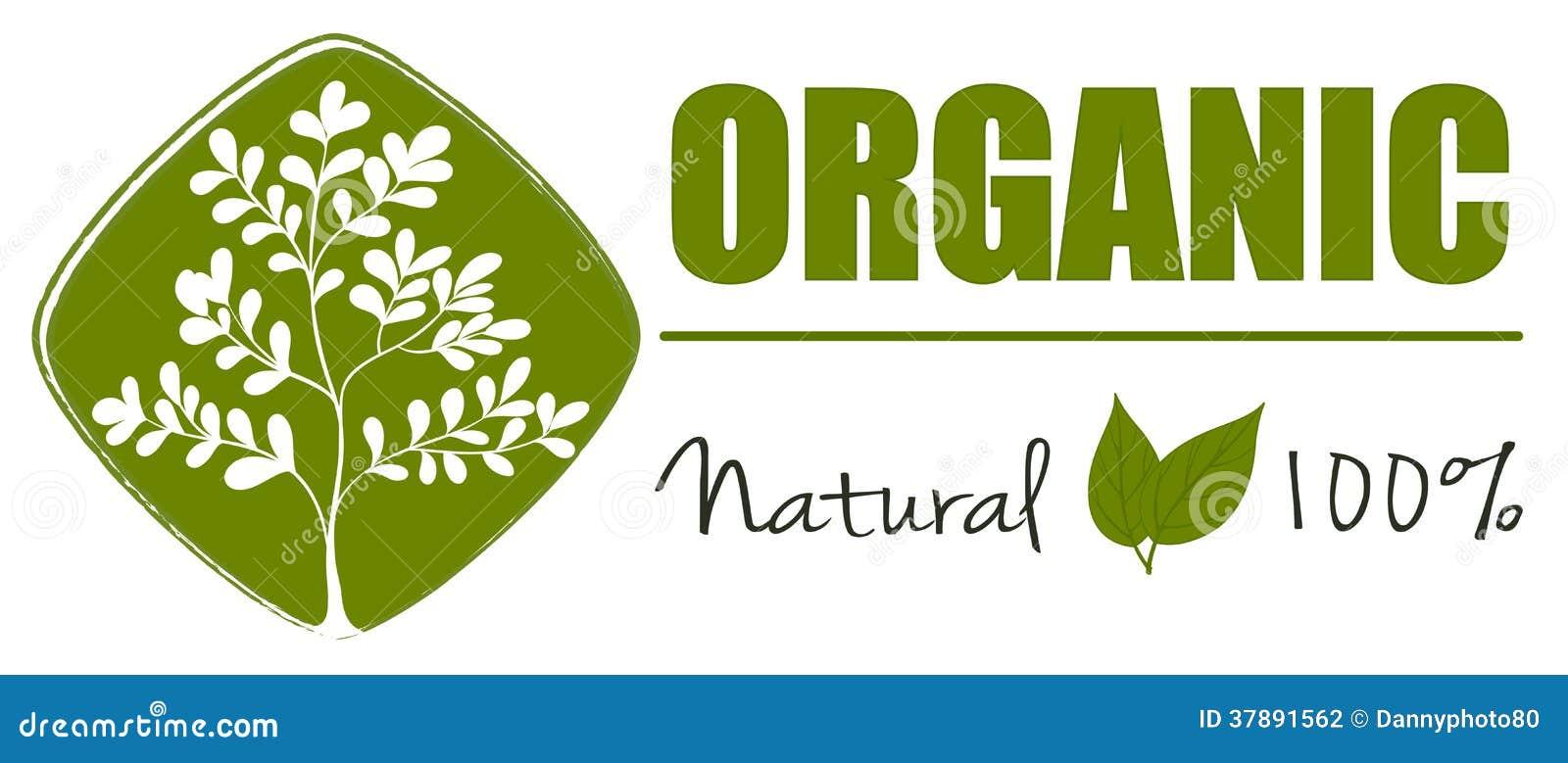 Een natuurlijk organisch etiket
