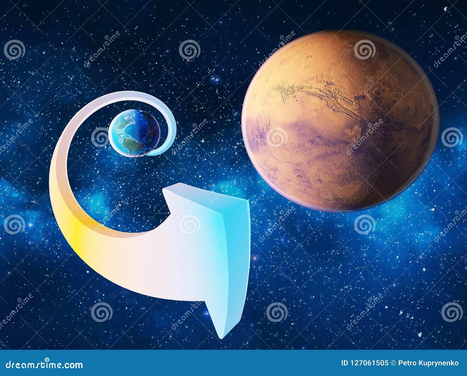 Een opwindende opdracht aan Mars Royalty-vrije Illustratie
