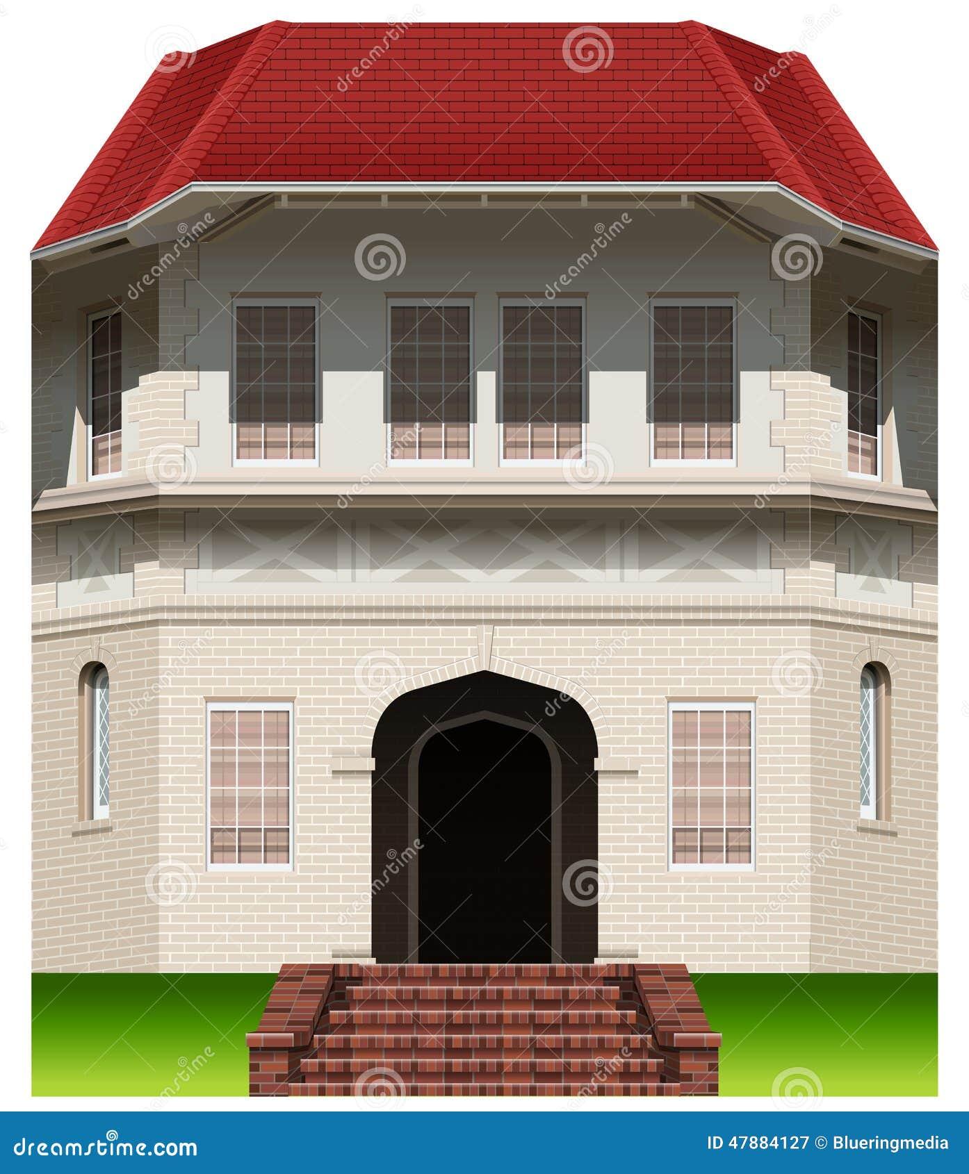 Een oud commercieel gebouw