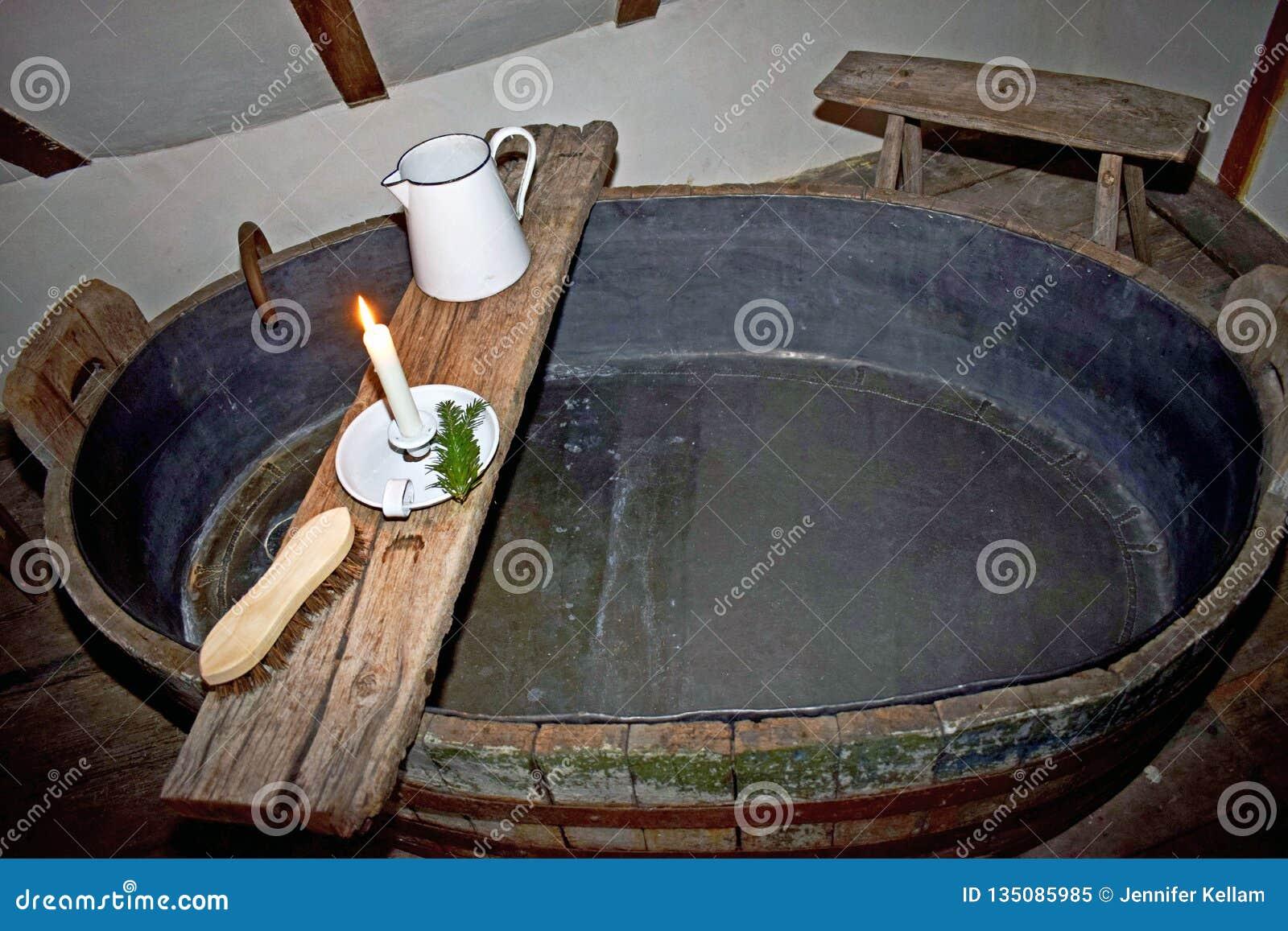 Een oud manierbad